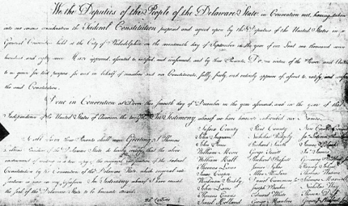 Delaware's ratification of Constitution