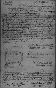 Survey for Thomas Dazey, 1748