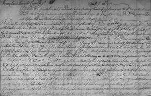 Survey for Joshua Burton, 1760