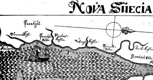 Published in 1691, Lindestrom's map is believed to date to the 1650s. Notice Hinlopen at the far left or southernmost portion of the map.